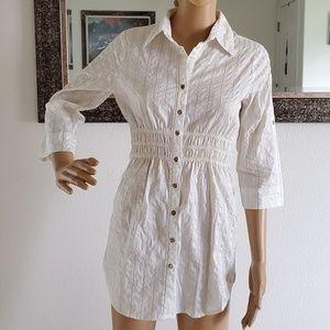 White & gold strip shirt/shirt dress (3 for $15)